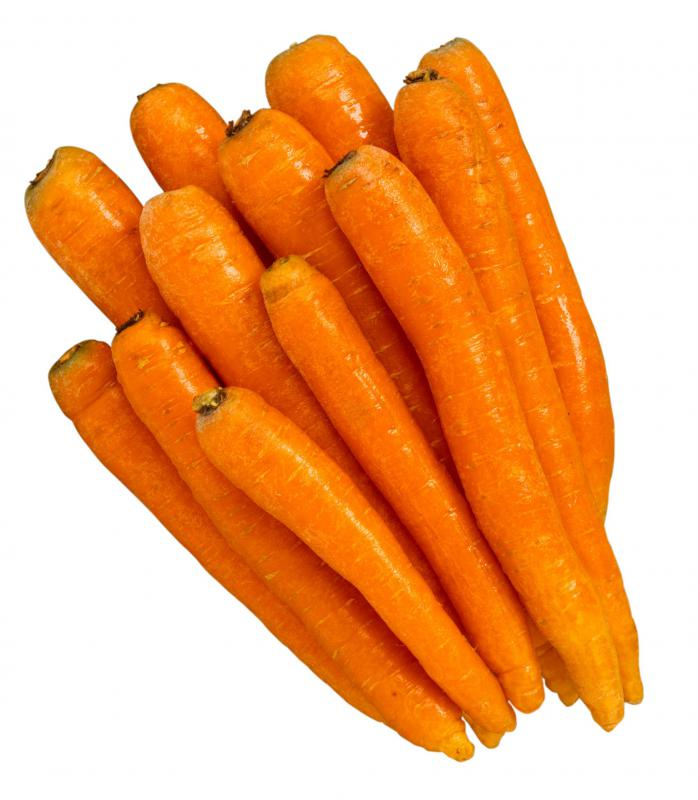 Carrots are a great source of vitamin A.