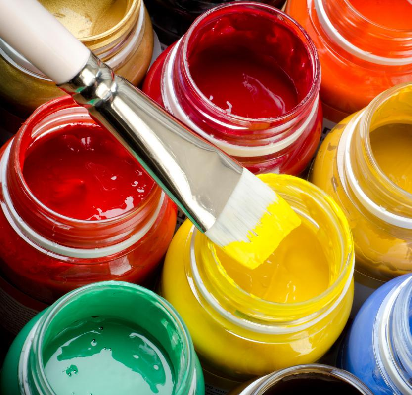What are the different types of interactive artists for Types of acrylic paint