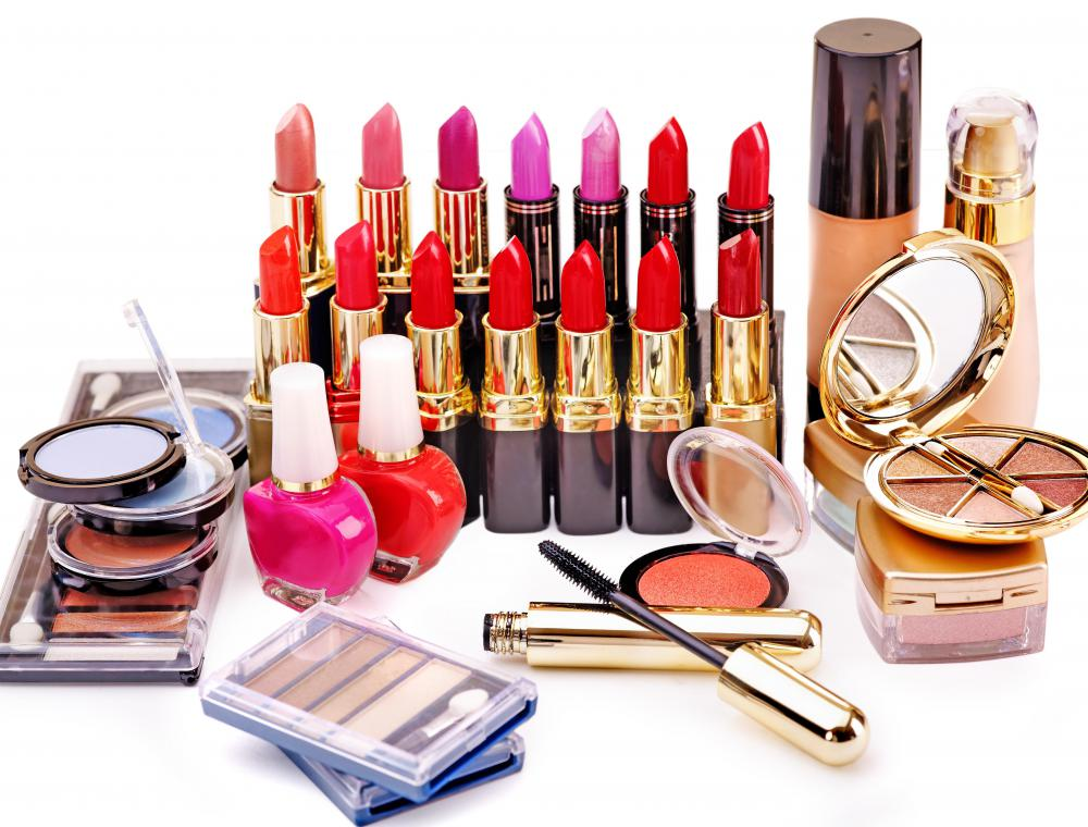 Many people sell cosmetics door to door or work at makeup counters in department stores.