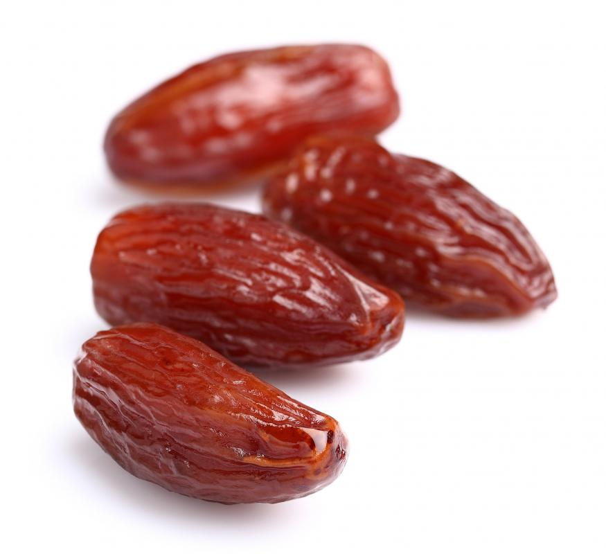 Dates may be included in a fruit gift basket.