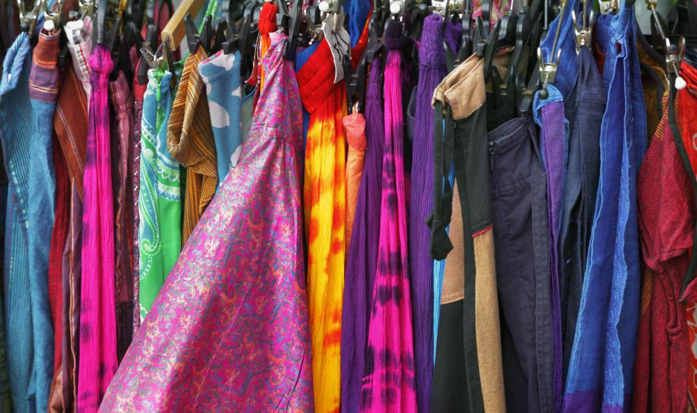 Fiber reactive dyes are often used to make tie-dyed clothing.