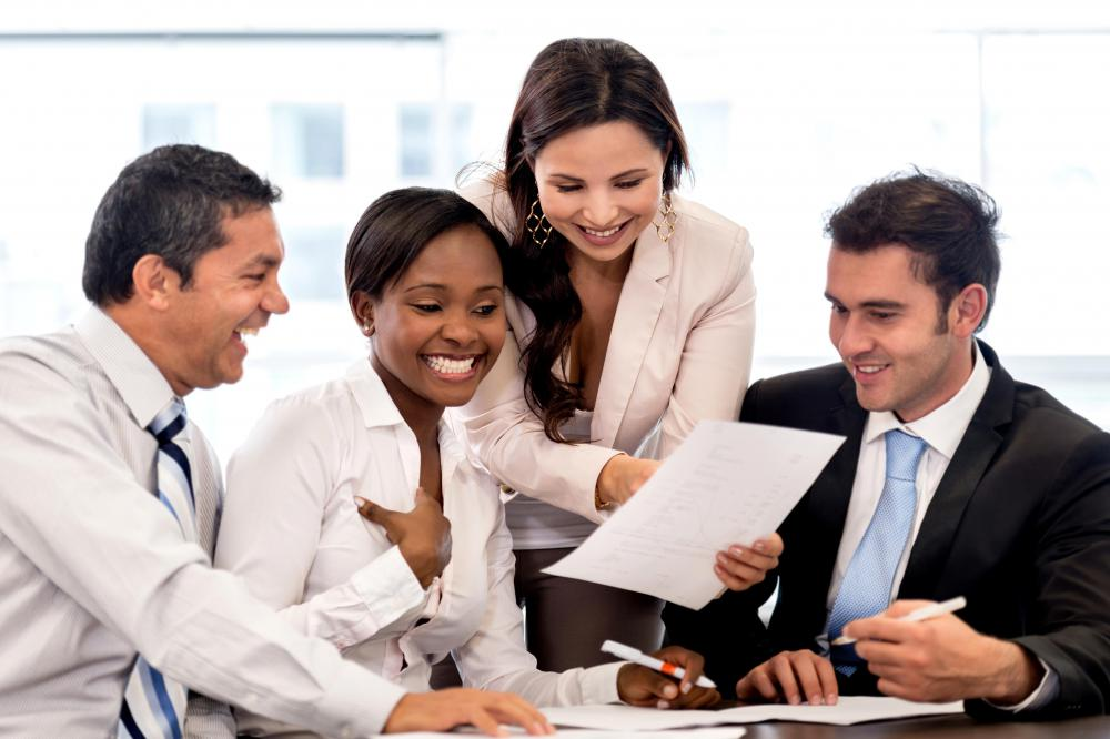 Working as a team is encouraged in a collaborative workplace.