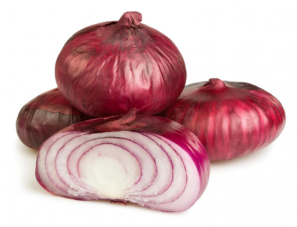 Savory onion jams might feature red onions.