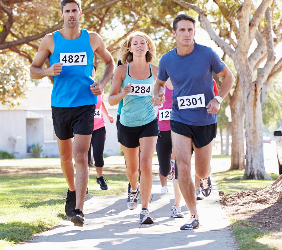 Many distance runners train so they can participate in races or large-scale running events.