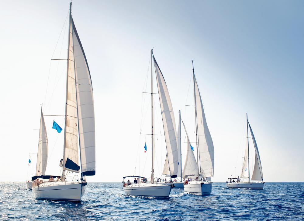 Some sailing yachts are designed for racing.