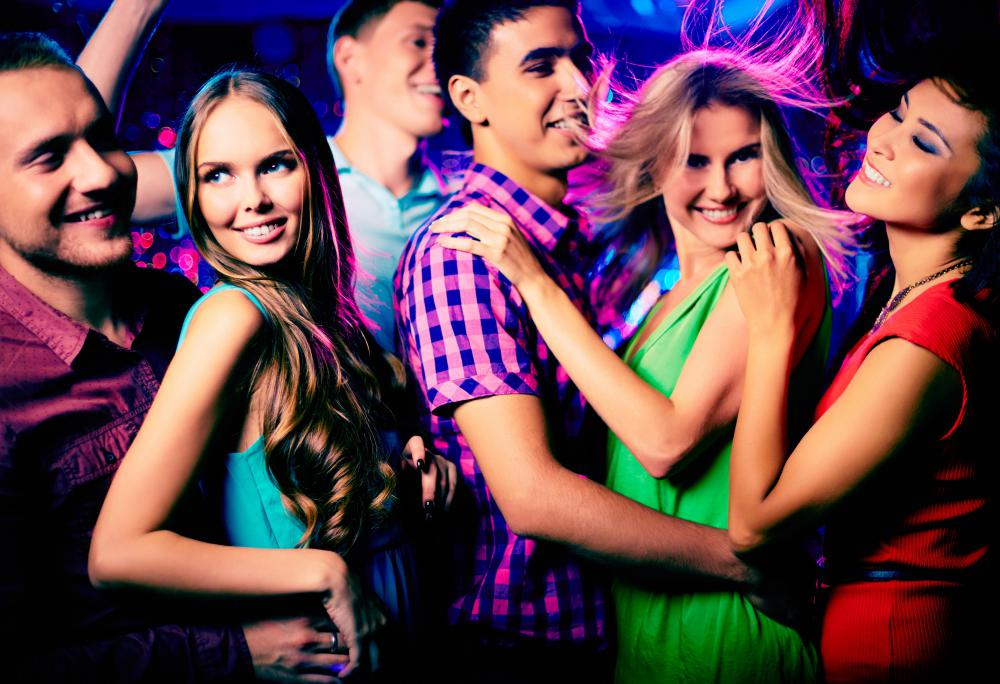 Going to a dance club is a popular TGIF activity for young adults.