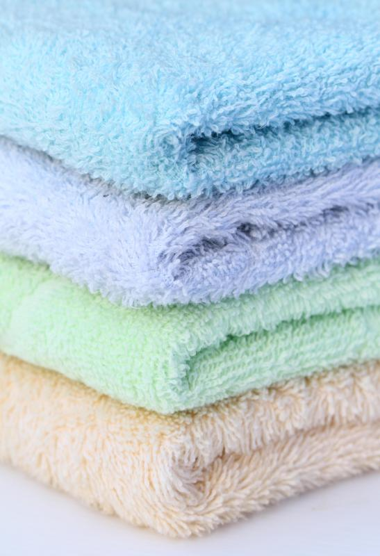 Some washcloths have a slightly rough texture and can be used to exfoliate.