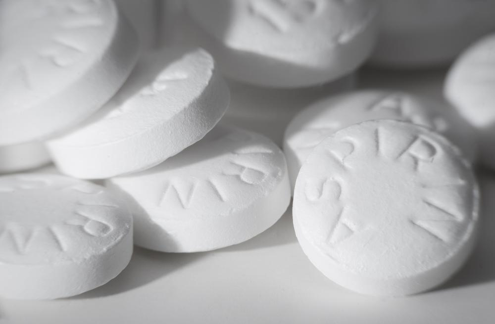 Aspirin is sometimes used to prevent platelet aggregation.
