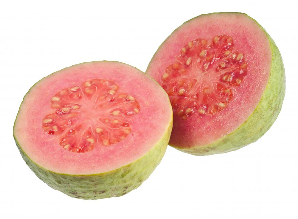 Guavas are high in fiber.