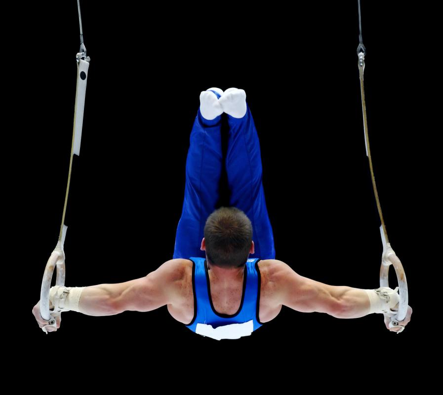 Acrobats use elements of gymnastics.