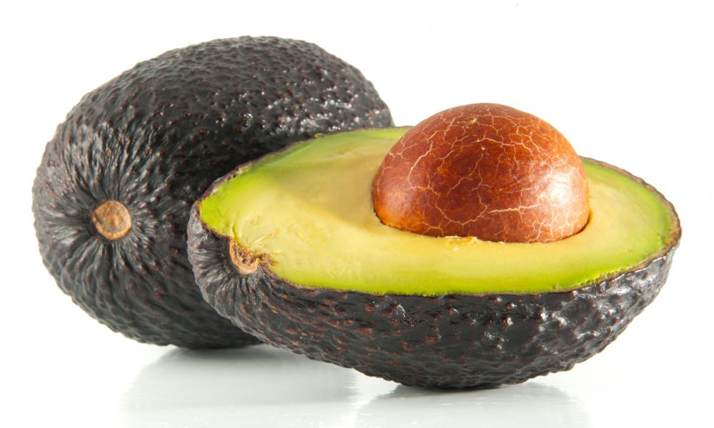 Avocados are used in homemade face masks for dry skin.