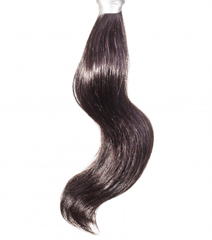 Hair extensions can be sewn or braided into or clipped or bonded to naturally growing hair.