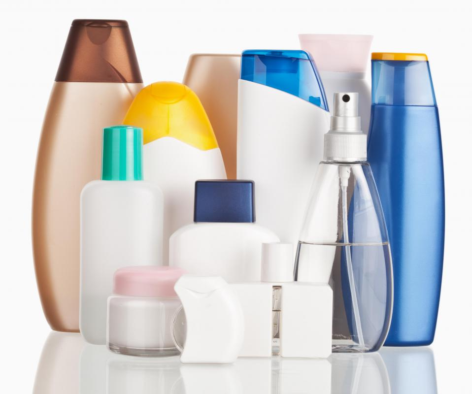 Many beauty products contain chemicals which can irritate the skin.