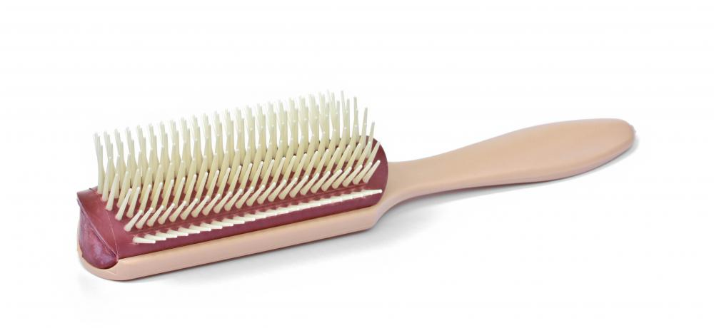 Hairbrushes are used to keep hair healthy, and come in many shapes and sizes.
