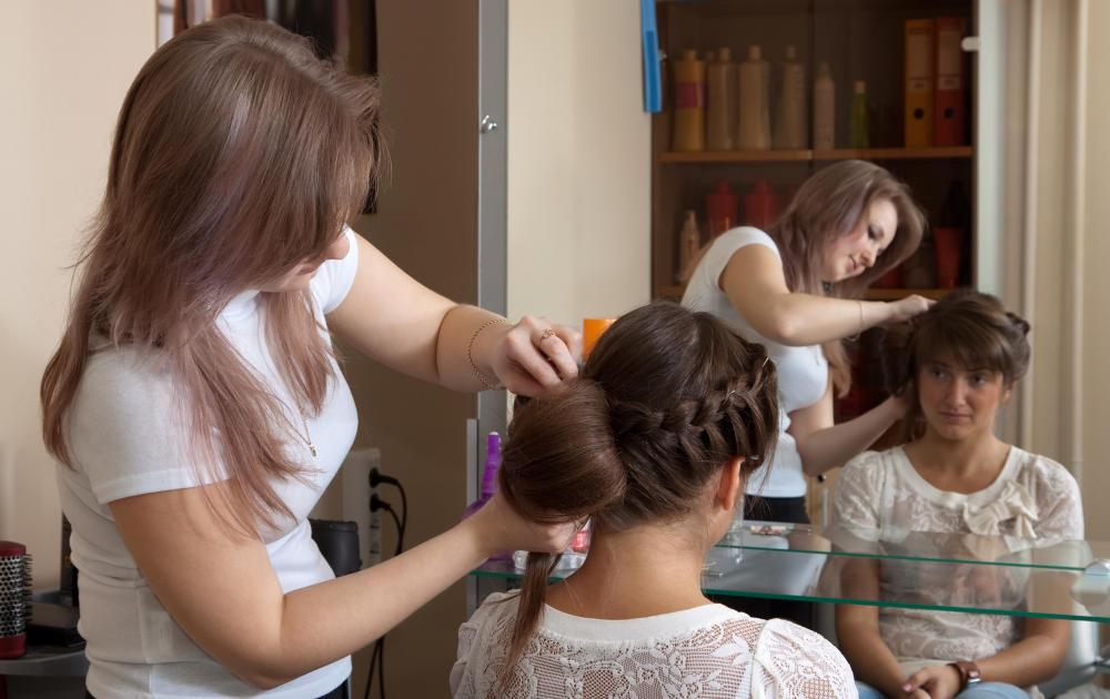 Hairdressers often work on their own in hair salons.