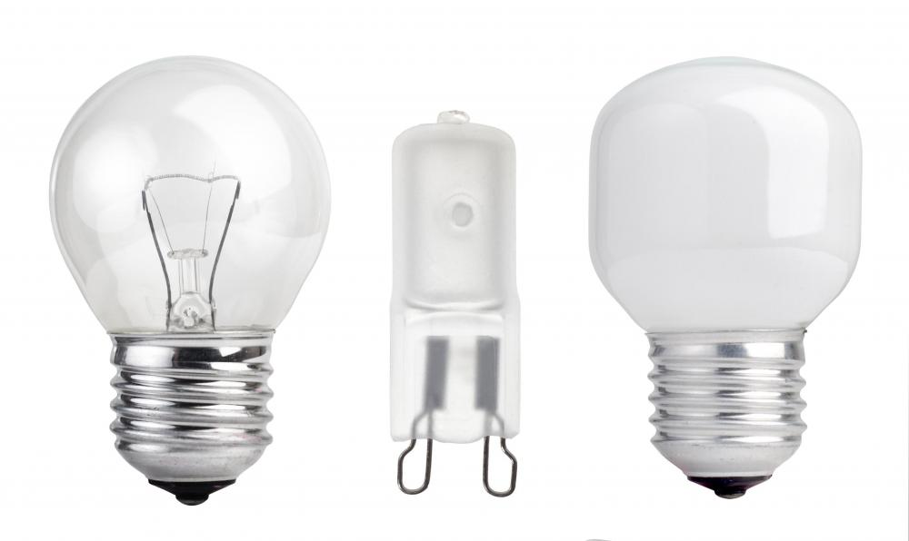 A G9 halogen bulb uses a two-looped prong base rather than an Edison screw socket.