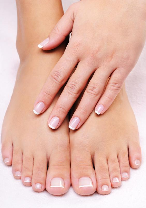 A simple manicure and pedicure are good ways to take care of your fingernails.