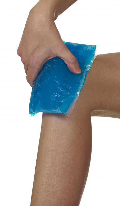 Blue ointment contains menthol which can have a cooling effect on the skin, much like an ice pack.