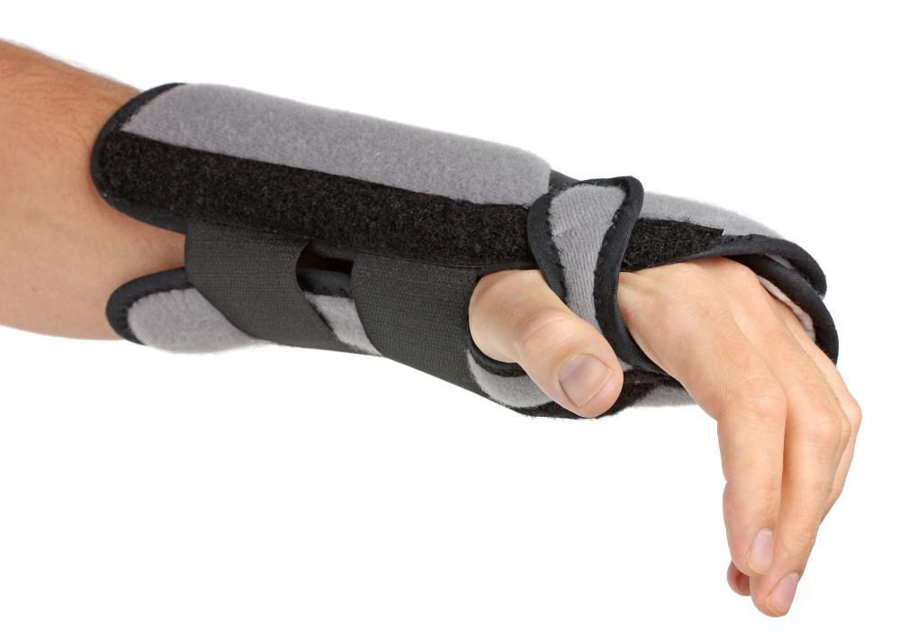 Wearing a brace or a splint can help stabilize muscles and alleviate pain from a strain.
