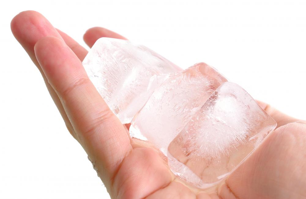 Ice therapy may be helpful in relieving discomfort associated with a jammed finger.