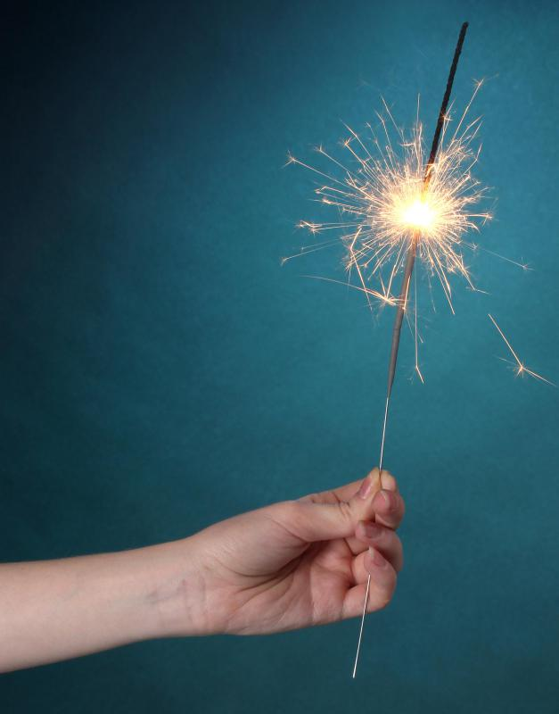 Sparklers are a popular hand-held variety of firework that are considered safe for children to play with in many countries.