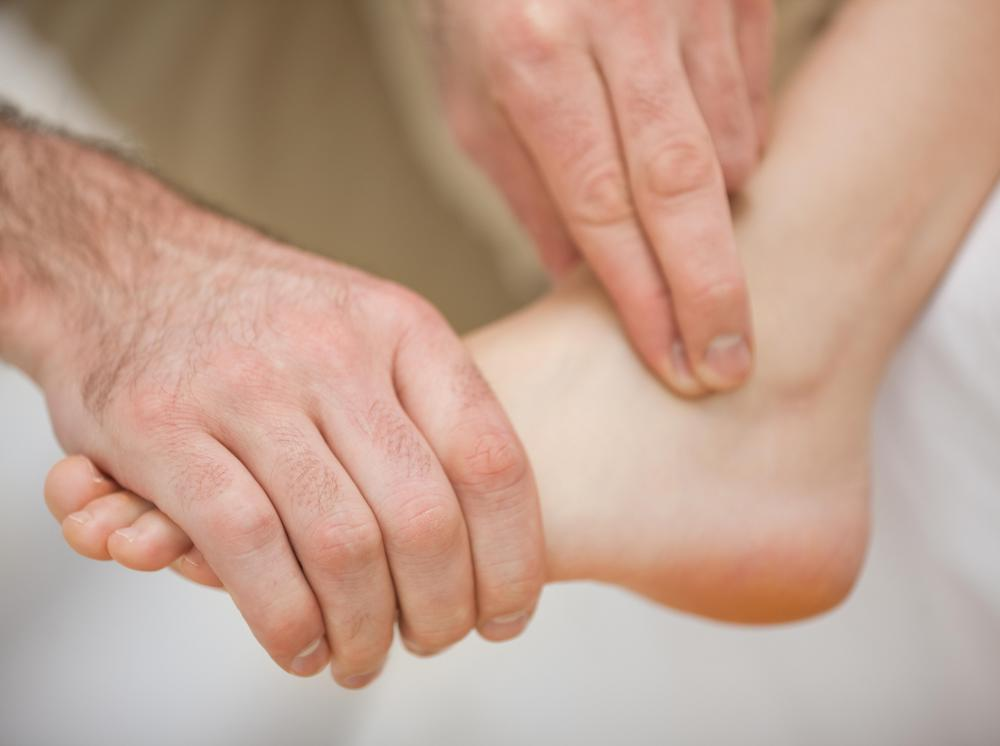 An ankle reflex is a reaction to being tapped when in a certain position.