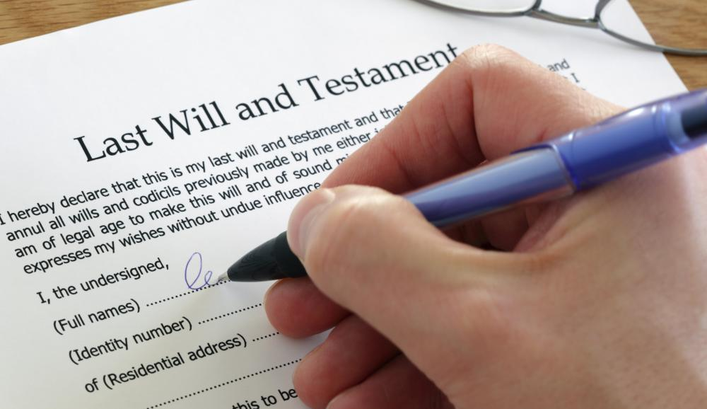 A last will and testament denotes to whom the decedent has decided to allocate property rights and their estate upon their death.