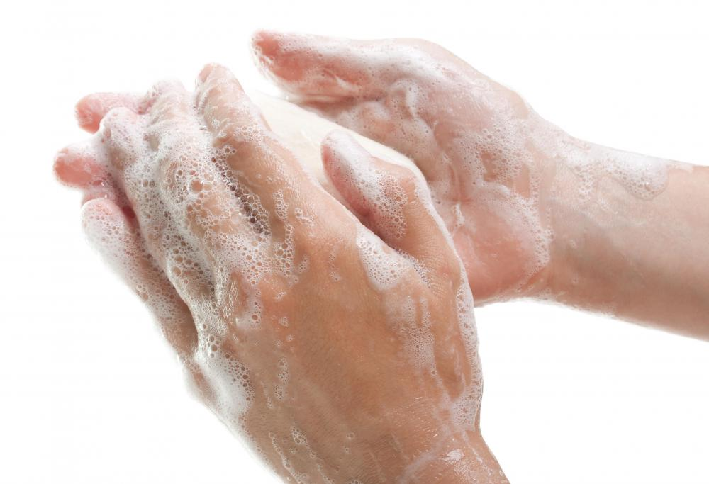 Compulsive hand washing may be a sign of OCD.