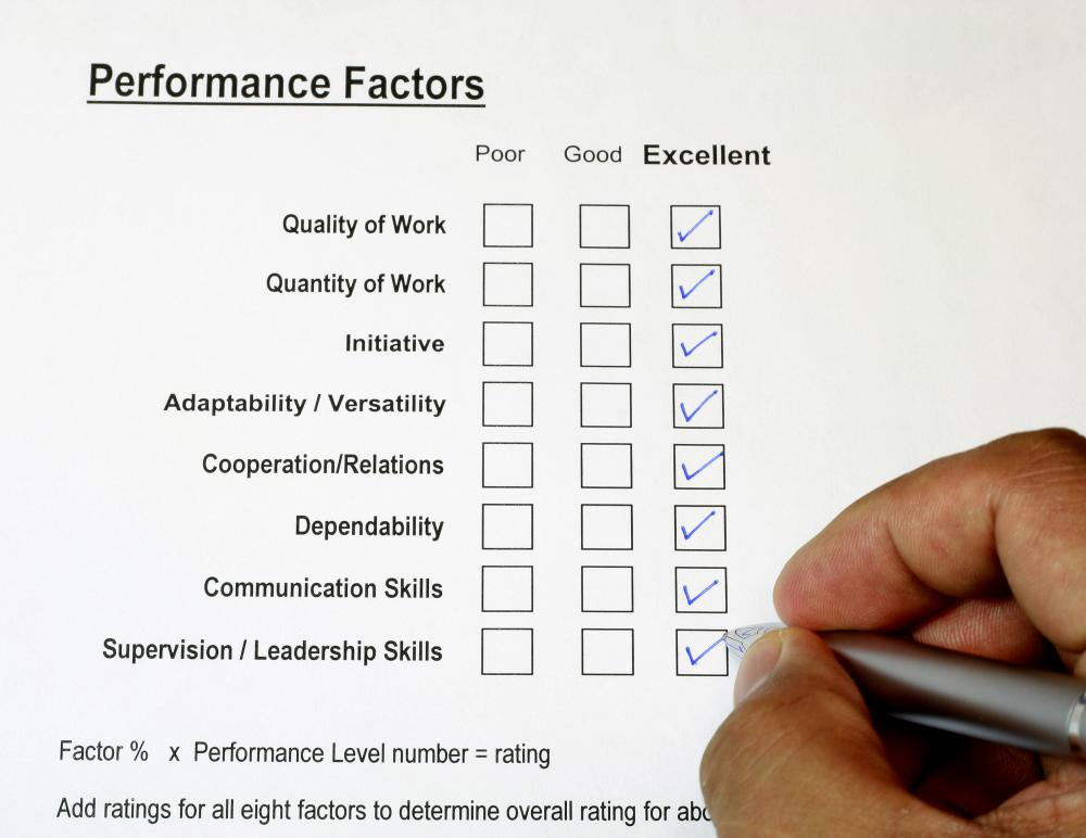 A performance review may be used to help improve and monitor performance.