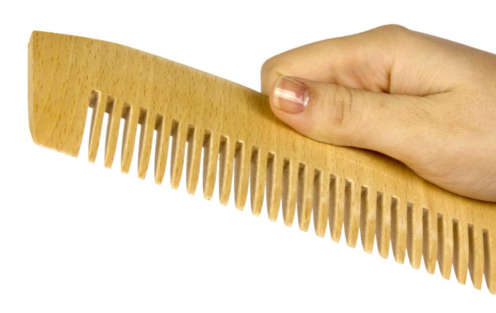 Wood combs are typically more durable and have larger teeth than plastic combs.