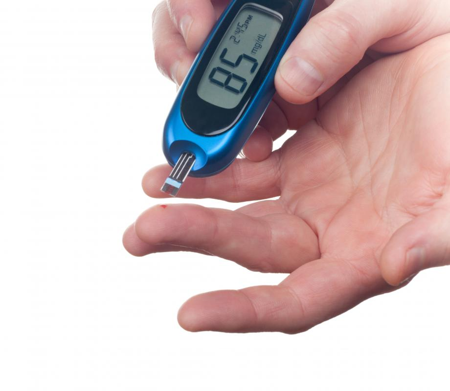 Diabetics may have elevated ketones in the bloodstream.