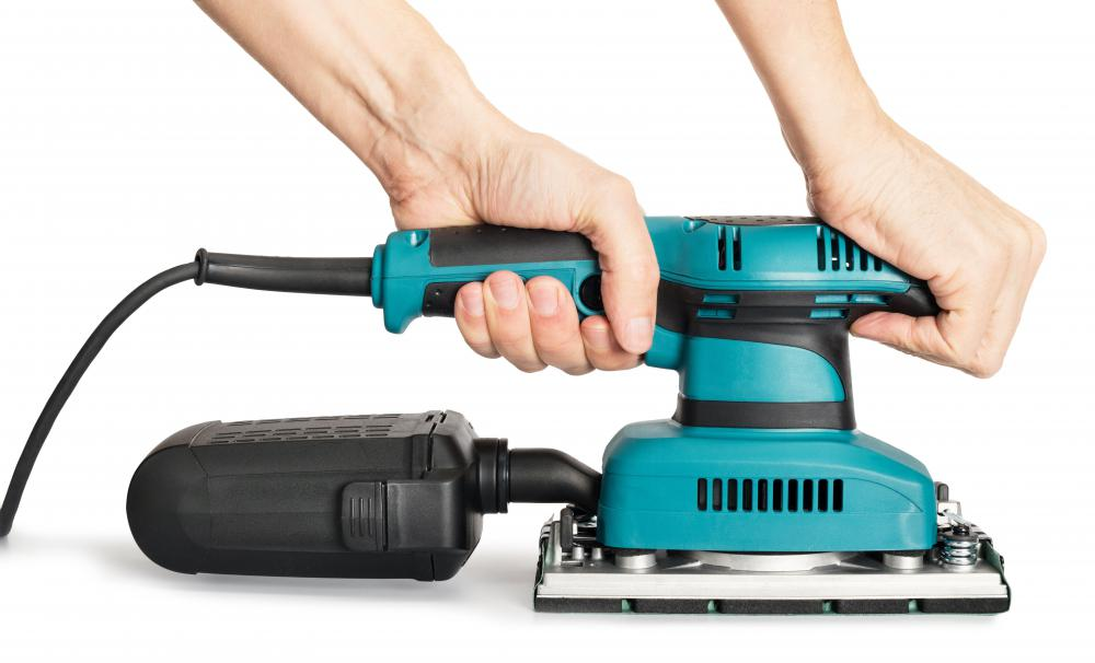 An orbital sander can be used as a finishing sander, as it works much like a floor polisher.