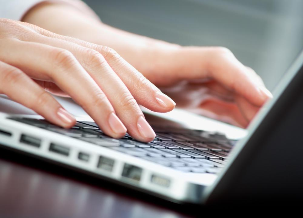 Typing should be avoided when a person is suffering from a bruised thumb.