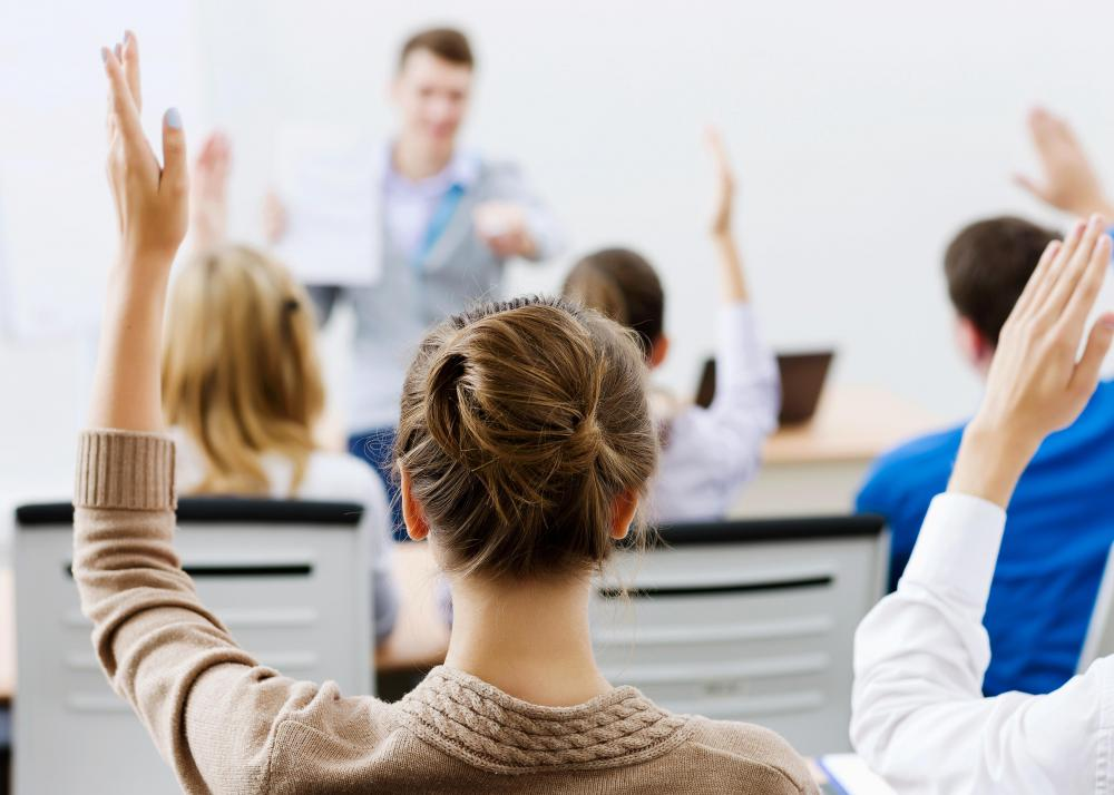 Lectures that encourage class participation and questions are one of the  best methods for teaching adult education.