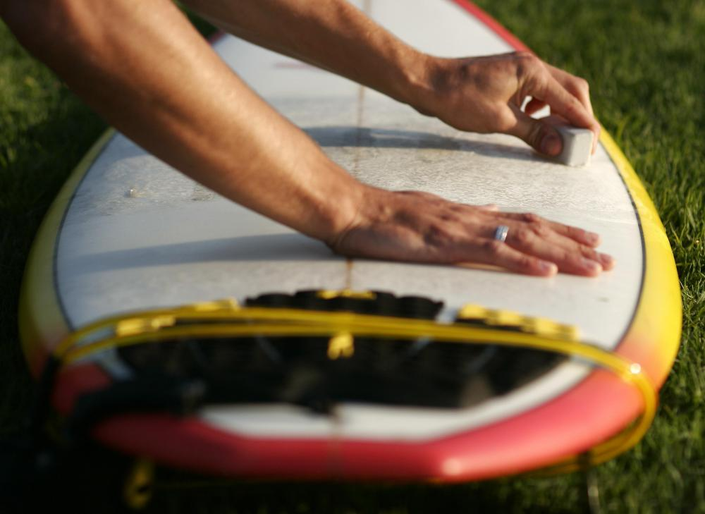 Surfers use water resistant carnauba wax on their boards.