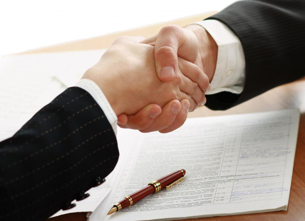 A strategic partnership agreement is made between two businesses intent on working together for mutual benefit.
