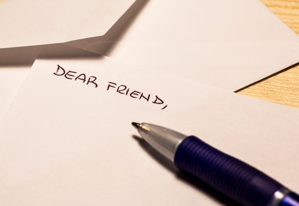 one should write an anonymous letter much like theyd write a normal letter