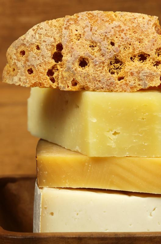 Varieties of hard cheese are traditionally used to make cheese bread.