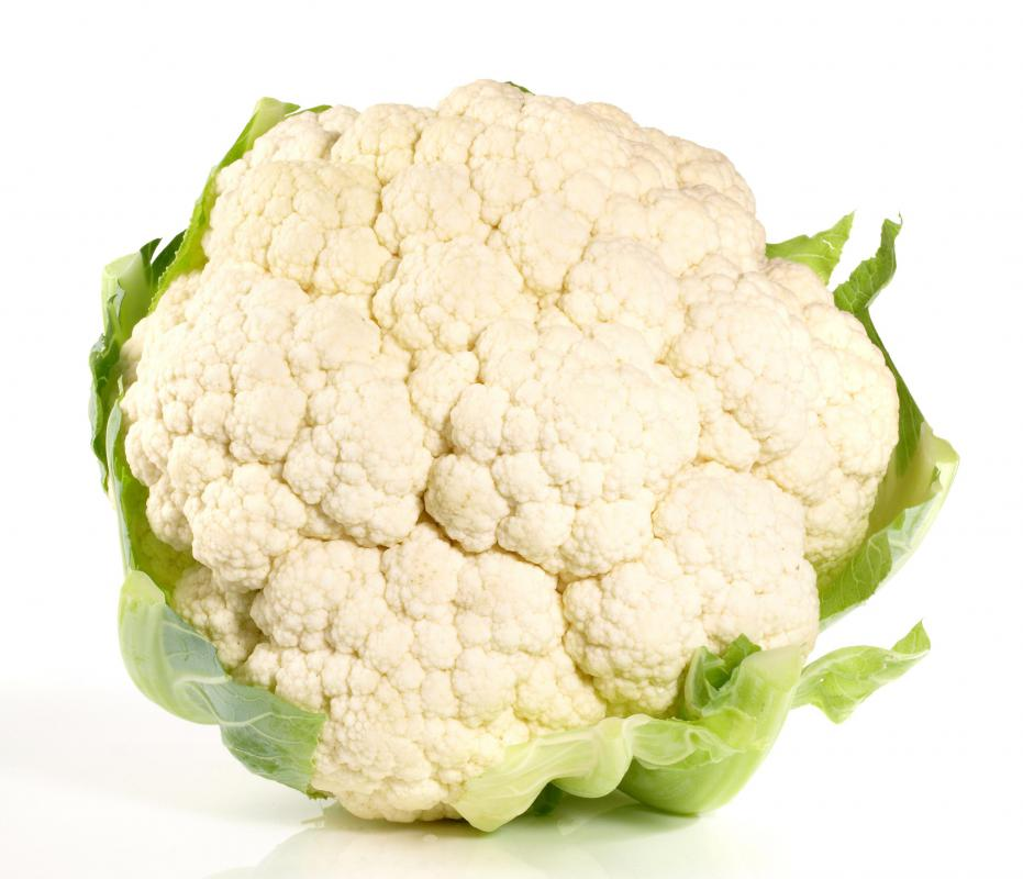 Cauliflower is a source of vitamin C.