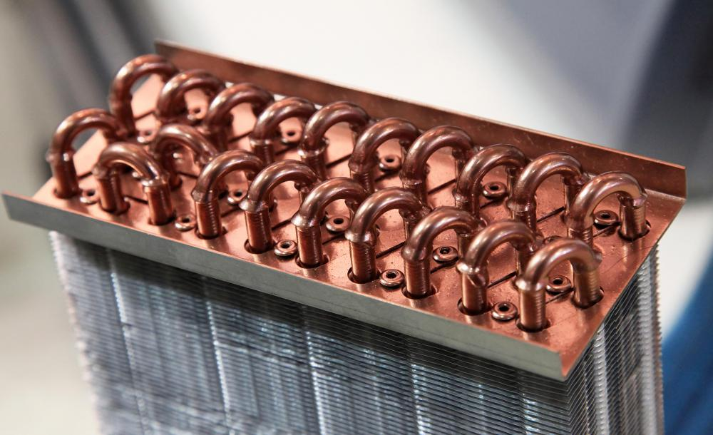 The size of tubes in a heat exchanger determines how efficient the device will be.