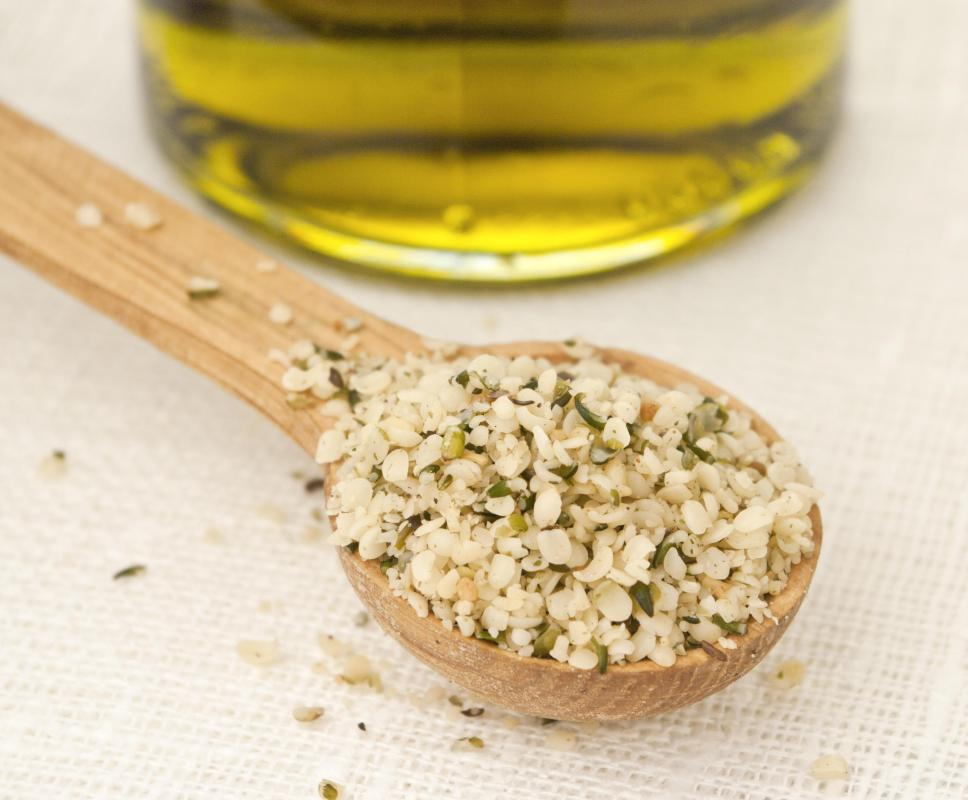 Hemp flour is made by removing the oil from hemp seeds.