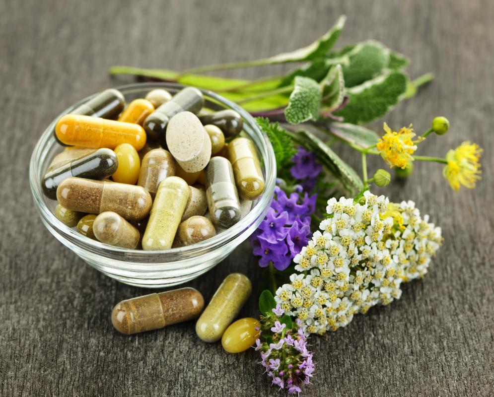 Herbal nutritional supplements may include dried, powdered herbs and herbal tea blends.