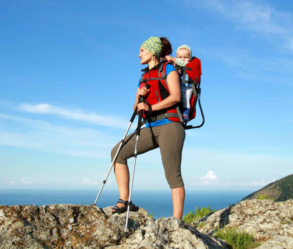 Some people might consider mountain hiking as an extreme travel activity.