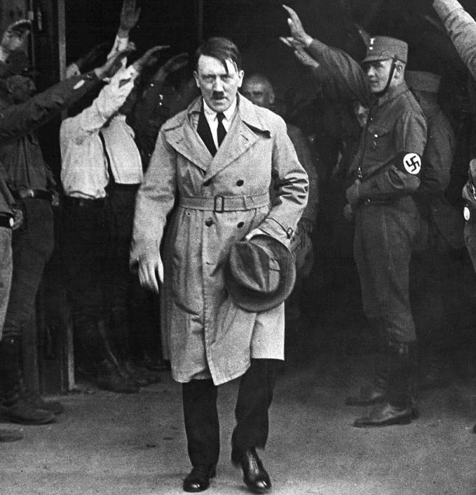 Adolph Hitler used violent rhetoric in his speeches.