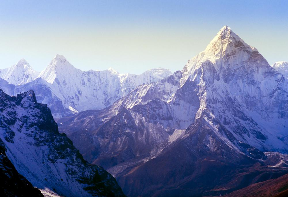 The Himalayas are the tallest mountain range in the world.