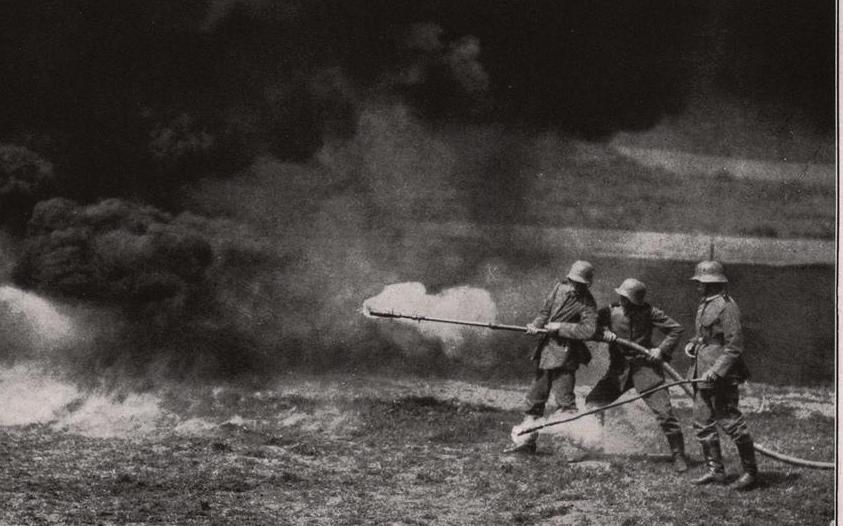 Flamethrowers were used extensively during both World War I and II.