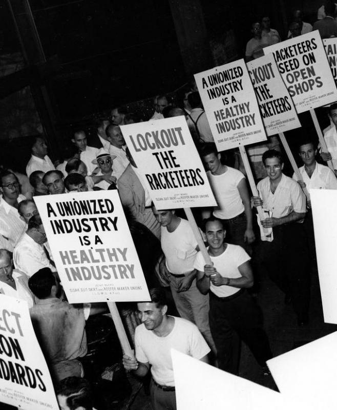 Labor unions attracted many blue collar workers in the 20th Century.