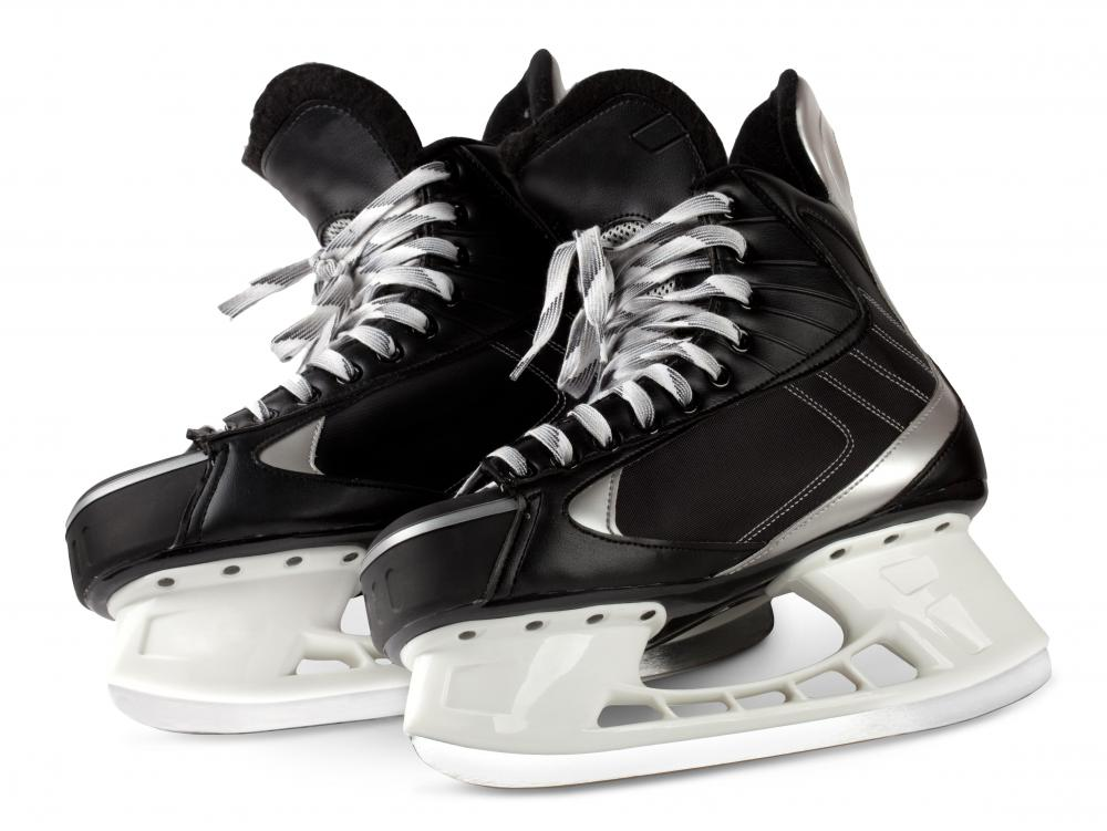 A pair of hockey skates.