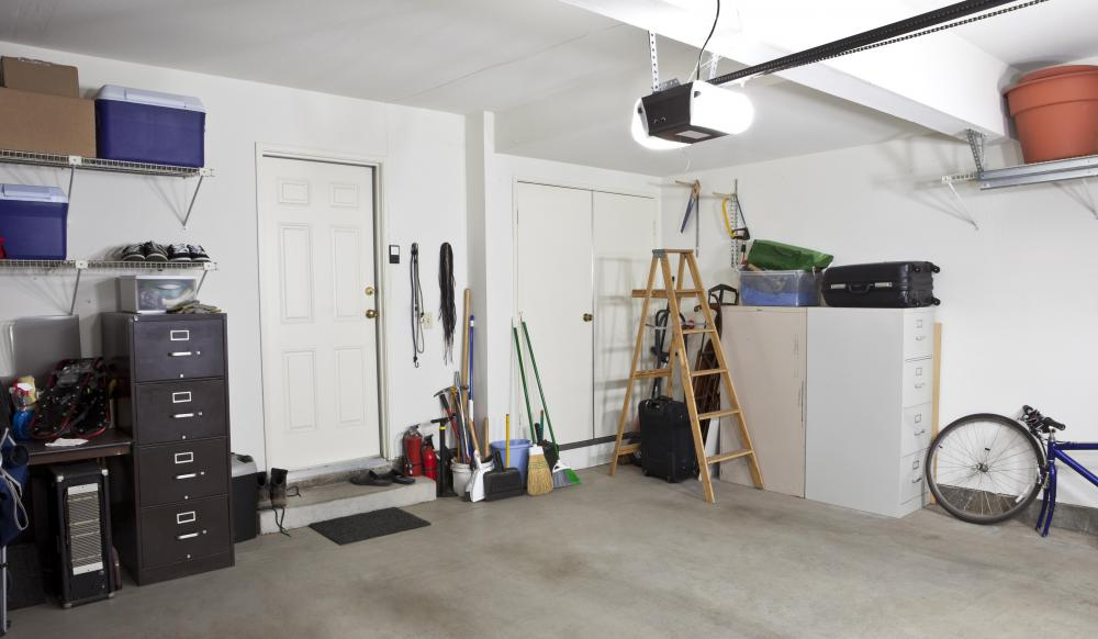 A garage door light is a common security device that enables the homeowner to see the garage area and its surroundings before he or she enters into it.