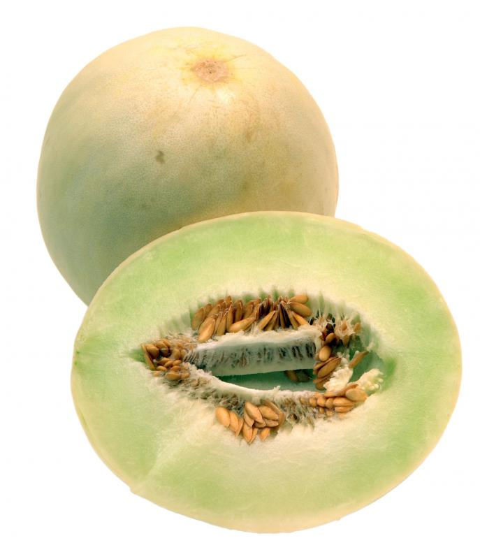 Honeydew, a type of muskmelon.